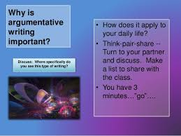 Writing an argumentative essay SlideShare