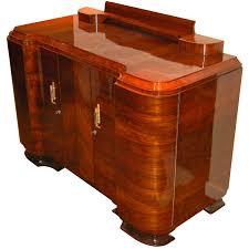 amazing quality art deco walnut curved buffet or storage unit art deco furniture cabinet