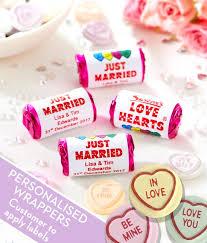Personalised Love Hearts - Wedding Love Heart Sweets - Swizzels