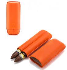 <b>COHIBA Brown</b> Snake Style Pattern Embossed <b>Leather Cigar</b> Case ...