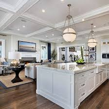 ultimate california beach kitchen with global modern lighting beach house kitchen nickel oversized pendant
