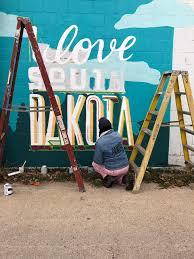 '<b>I Love South</b> Dakota' Mural in Brookings, SD | Pandr Design Co.