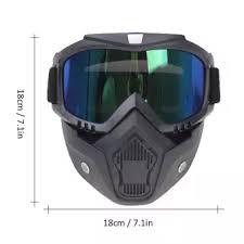 <b>Motorcycle Bike</b> In 2 IN 1 <b>Detachable</b> Helmet Goggles Mask Blue ...