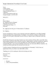 administrative coordinator cover letter  job and resume template  administrative support coordinator cover letter