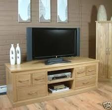 mobel solid oak furniture widescreen tv dvd stand unit cabinet ebay mobel solid oak dvd