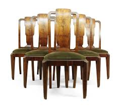 art deco dining chairs set of six in rosewood french c1930 03 art deco rosewood dining