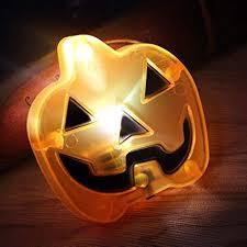 Shan-S <b>Halloween</b> Skull Pumpkin Shape <b>LED Decorative</b> Nights ...