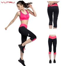Vutru Womens Capri Pants Sport Yoga Calf-length Pants Running ...
