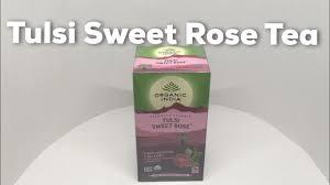 Organic India <b>Tulsi Sweet Rose Tea</b> - YouTube
