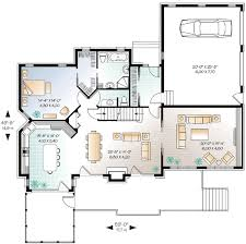 Plan W DR  Vacation Retreat   e ARCHITECTURAL designDesigned for a sloping lot  this vacation home plan has plenty of room to accommodate family and guests  A wall of windows across the rear brings in light