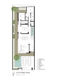 Semi Detached House in Singapore Interacting   the Surrounding    Collect this idea First level plan