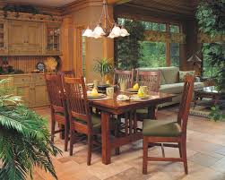 walnut cherry dining: mission style cherry dining furniture craftsman dining room