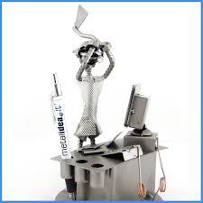 handmade metal sculpture exasperated office clerk recycle art handmade metal sculpture exasperated office clerk