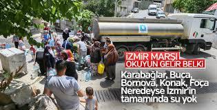 İzmir'in genelinde su sıkıntısı yaşanıyor