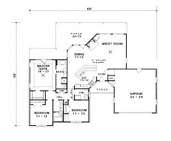 Van Doren Ranch Home Plan D    House Plans and MoreTraditional House Plan First Floor   D    House Plans and More