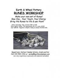 make your own set of runes feb 6 t w fendley author runes workshop flyer