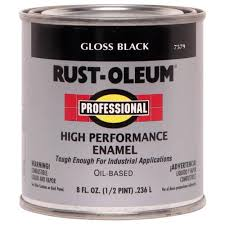 Rust-Oleum <b>Professional Black</b> Gloss Oil-based Enamel Interior ...