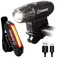 Amazon.com : <b>USB Rechargeable Bike Light</b> Set- Super Bright 400 ...