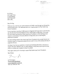 village football team raise money for lung cancer charity village football team raise money for lung cancer charity letter
