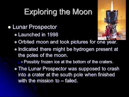 「Lunar Prospector finished 」の画像検索結果