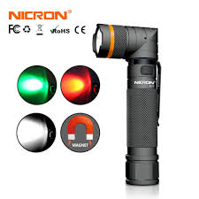 <b>NICRON</b> High Brightness Twist LED Flashlight Handfree Waterproof ...