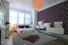 best teen bedroom decorating ideas with lovely flower wall sticker luxury design full purple art wallpaper office cheerful home office rug