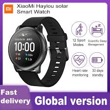 XiaoMi <b>Haylou Solar Smart Watch</b> IP68 Waterproof Sport Fitness ...