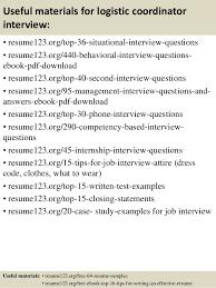 top  logistic coordinator resume samples       useful materials for logistic coordinator