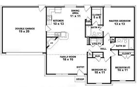 Traditional House Plans One Story   Florinadascalescu comTraditional House Plans One Story   Bedroom Bath Ranch Floor Plans