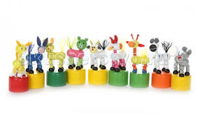 <b>Деревянная игрушка Папа Карло</b> Дергунчик Животные 1 шт ...