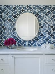 Beautiful Ann Sacks Glass Tile Backsplash White Blue Bathroom With Beau For Inspiration
