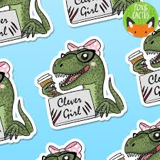 Clever <b>Girl Vinyl</b> Die Cut Sticker (ST0020) – Fox and Cactus