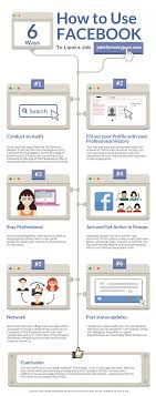 how to effectively use facebook to a job quora you can also see this infographic for insights