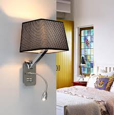 bedroom wall sconces for reading creative fabric wall sconces band switch modern led reading wall light