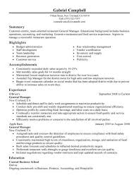 resume help online   high school accounting homework helprestaurant general manager resume
