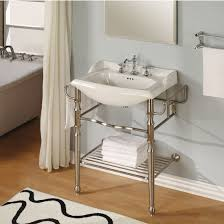 bathroom console vanity empire empire quot metal bathroom vanity console with satin nickel fin