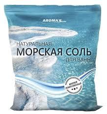 AROMA'Saules <b>Натуральная морская соль для</b> ванн Шалфей, 1 кг
