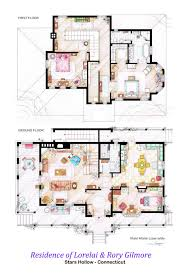 famous floorplans from your favorite movie and TV show homesGilmore Girls floorplan