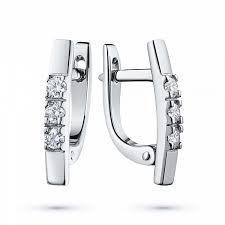 <b>Серьги</b> из белого золота с бриллиантом – купить в Москве по ...