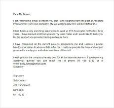 resignation letter resignation letter sample resignation  2 weeks notice email template
