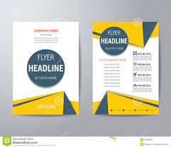simple triangle and circle brochure flyer design layout template simple triangle and circle brochure flyer design layout template