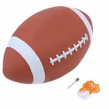 <b>PU</b> Leather Brown Rugby Ball PVC Rubber Footballs <b>Inflatable</b> ...