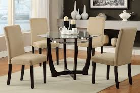stylish brilliant dining room glass table:  stylish round glass kitchen table sets decoration ideas and glass dining room sets