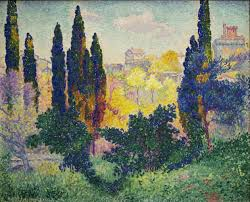 neo impressionism henri edmond cross les cypregraves agrave cagnes 1908 oil on canvas 81 x 100 cm museacutee d orsay paris