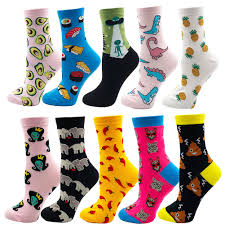 Cute Picture Space Cat Catching Fish Socks <b>Mens Womens Casual</b> ...
