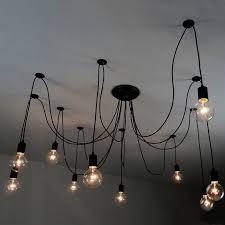 10 bulb lights edison chandelier suspension ceiling pendant cable pendant lighting