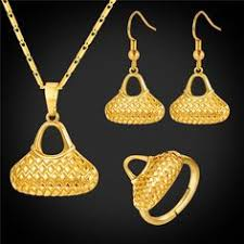 Gold <b>Axe Necklace</b> Earrings Set Papua New Guinea <b>Ax Jewelry</b> ...