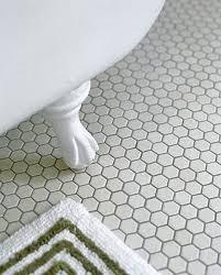 white bathroom floor:  black and white hexagon bathroom floor tile ideas and pictures
