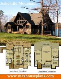 ideas about Rustic House Plans on Pinterest   Rustic Houses    Rustic lake house plan   an open living floor plan featuring vaulted ceilings and large windows