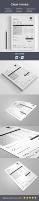 17 best ideas about invoice template invoice design clean invoice template psd ms word